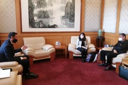 Биеийн Тамир, Спортын Улсын Хорооны дарга Ц.Шаравжамц БНХАУ-аас Монгол Улсад суугаа Элчин Сайдын Яамтай уулзалт хийв.
